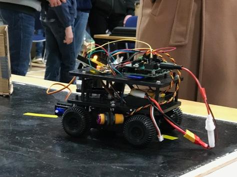 A cybernetic member of King Edward VI School Robotics Club