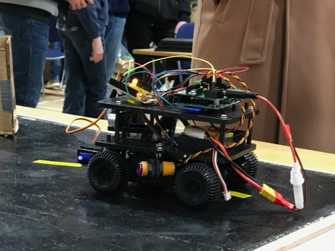 A cybernetic member of King Edward VI School Robotics Club